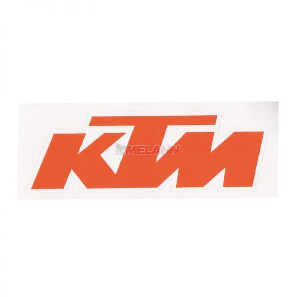 KTM Aufkleber 12x4cm, orange