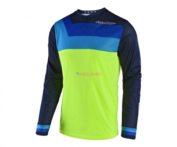 TROY LEE DESIGNS Jersey: GP Air Prisma, neon-gelb