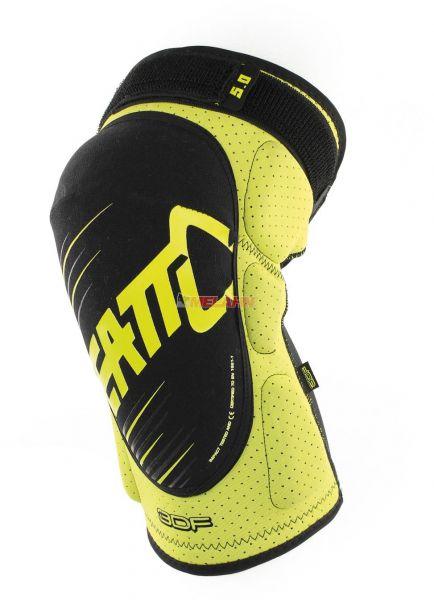 LEATT Knieprotektor (Paar): 3DF 5.0, neon-gelb