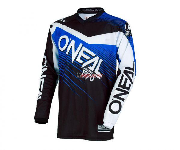 ONEAL Jersey: Element Racewear, schwarz/blau