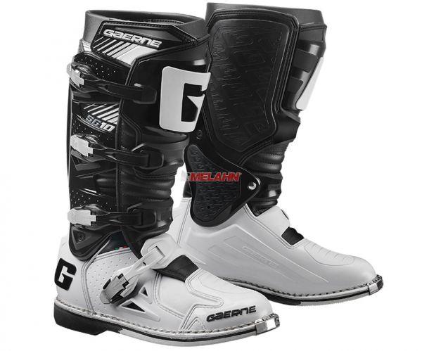 GAERNE Stiefel: SG 10 Techno Race, schwarz/weiß