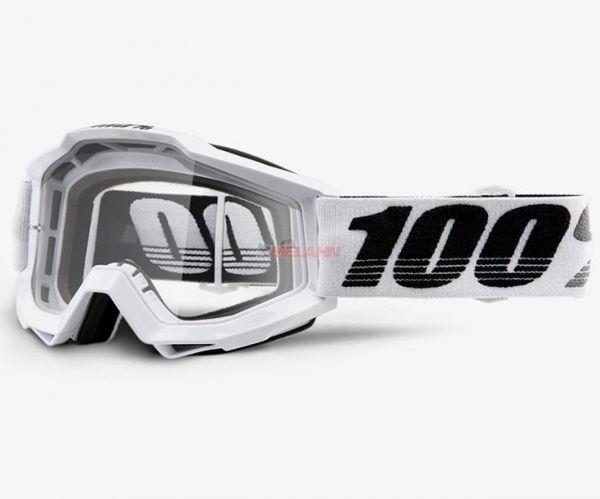 100% Accuri Galatica Goggle Motocross MTB MX Enduro Cross Brille, weiß/silber