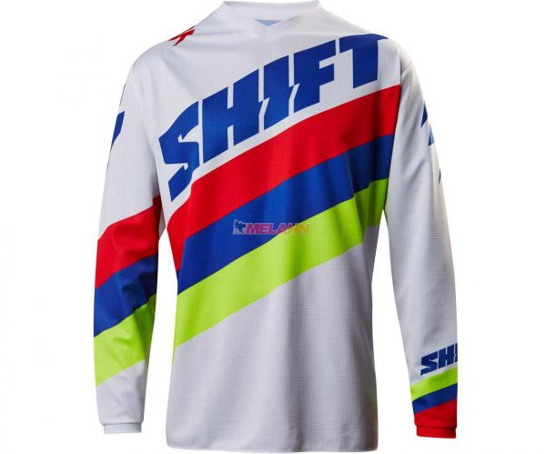 SHIFT Jersey: Whit3 Tarmac, weiß