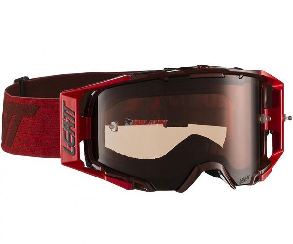 LEATT Brille: VELOCITY 6.5, ruby/rot