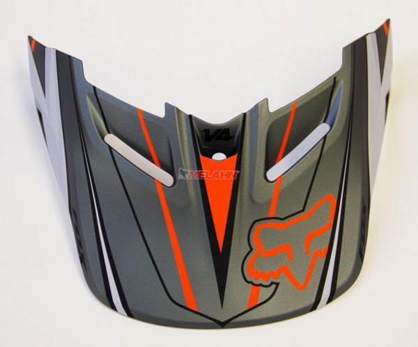 FOX Helmschirm: V4 Visor (2014) Race, grau/orange