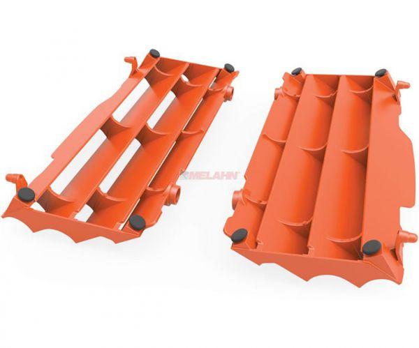 POLISPORT Kühlerschutz (Paar) HVA (außer TC 250) / KTM SX (außer 250 2T) 16-18 , orange