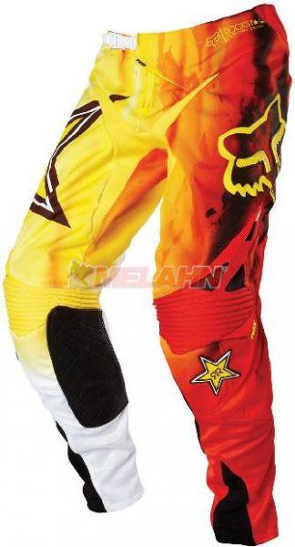 FOX Hose: 360° Rockstar Fade, weiß-gelb-rot, Gr.30