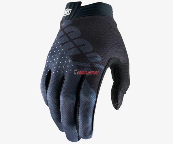 100% Handschuh: I-Track, schwarz/grau
