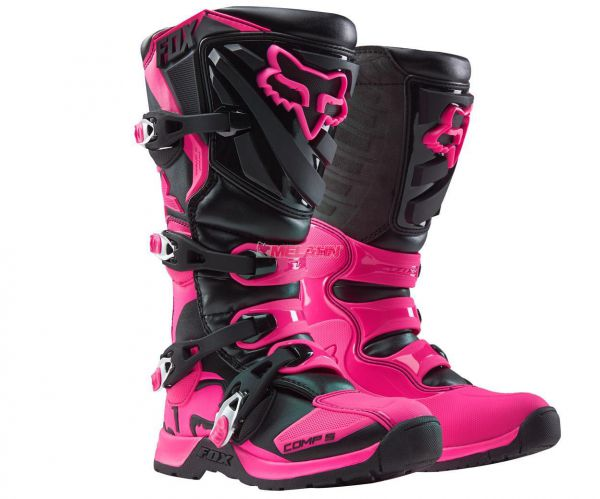 FOX Girls Stiefel: Comp 5, sw/pink
