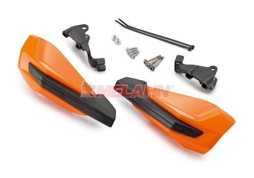 KTM Handprotektoren (Paar): MX IV ab 2014, Griffmontage, orange 2016