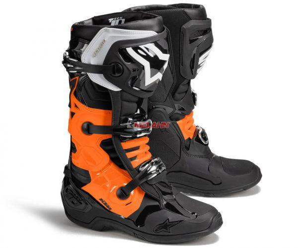 ALPINESTARS Stiefel: KTM Tech 10, schwarz/orange