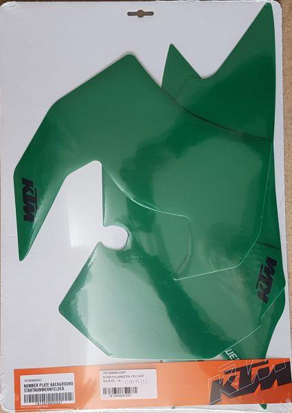 KTM Starttafelaufkleber-Set SX/SMR 13-15 / 250 SX 16 / EXC 14-16, grün