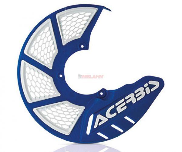 ACERBIS Kunststoff-Bremsscheibenschutz vorne: X-Brake 2.0 KTM/HVA 85, blau/weiß