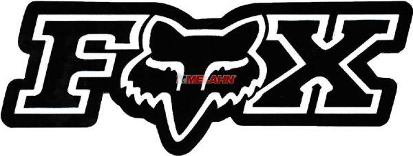 FOX Aufkleber: Corporate 7,5x2,5cm, schwarz