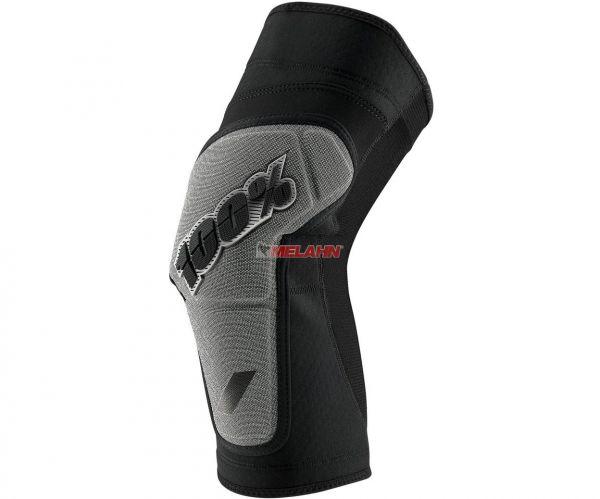100% Knieprotektor (Paar): Ridecamp, schwarz