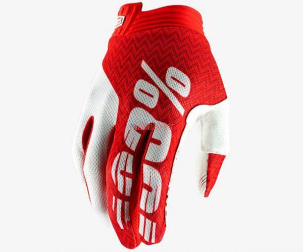 100% Handschuh: I-Track, rot/weiß