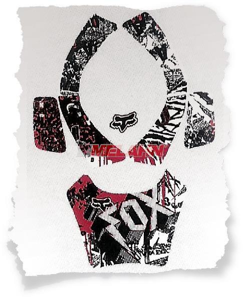 FOX I.D.-Aufkleber Kit: Airframe, sw/rot
