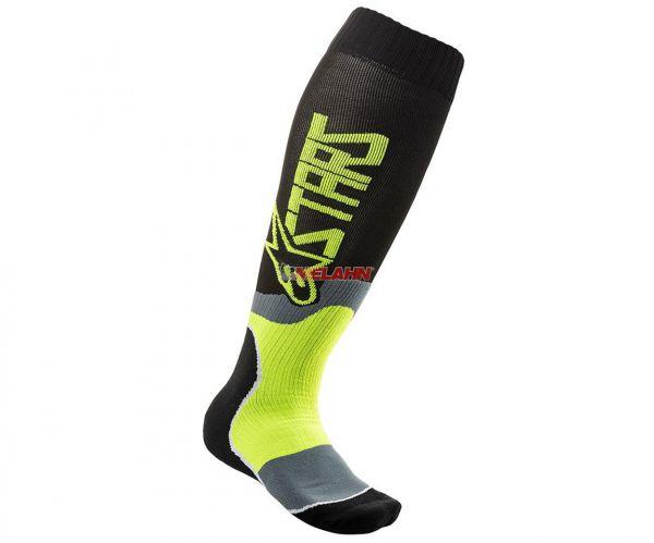 ALPINESTARS Socke (Paar): MX Plus-2, schwarz/gelb
