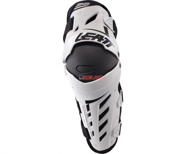 LEATT Knie- und Schienbeinprotektor (Paar): Dual Axis, weiß