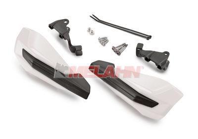 KTM Handprotektoren (Paar): MX IV 65/85 SX / Freeride 250 F 18-, Griffmontage, weiß