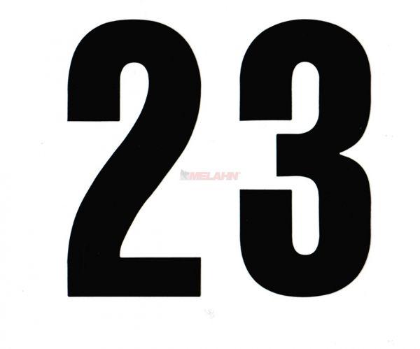 FX Enduro-Zahlen 12,5cm einzeln, schwarz
