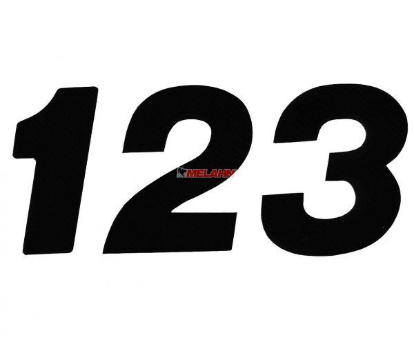 MT Supercross-Zahlen 20cm einzeln, schwarz
