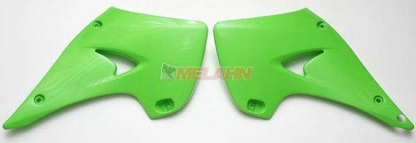 UFO Spoiler (Paar) Kühlerverkleidung KX 125/250 03-08, grün05