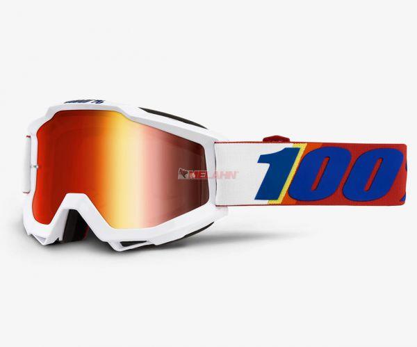100% Brille: Accuri Minima, weiß/rot/blau