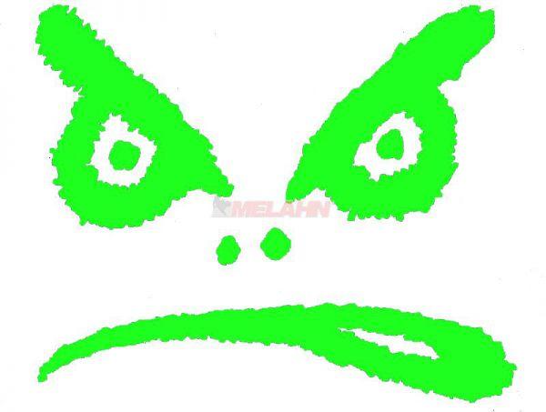 LIFES A BEACH Aufkleber TDC: Bad Boy Augen, 12x15cm, grün