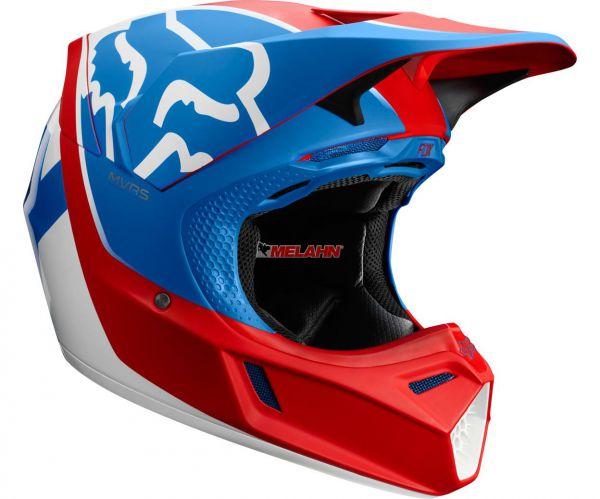 FOX Helm: V3 Kila, blau/rot/weiß