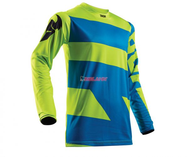 THOR Jersey: Pulse Level, electric blue/lime