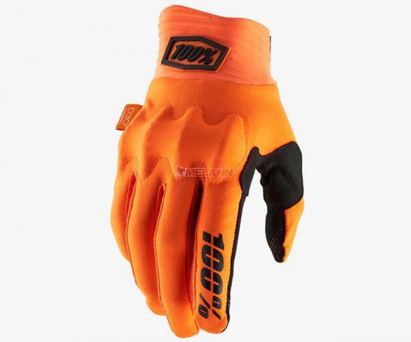 100% Handschuh: Cognito D30, orange