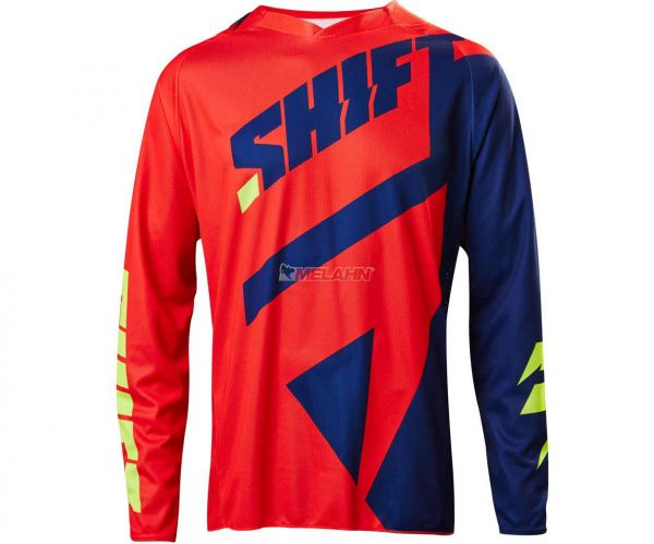 SHIFT Jersey: 3Lack Mainline, navy/rot