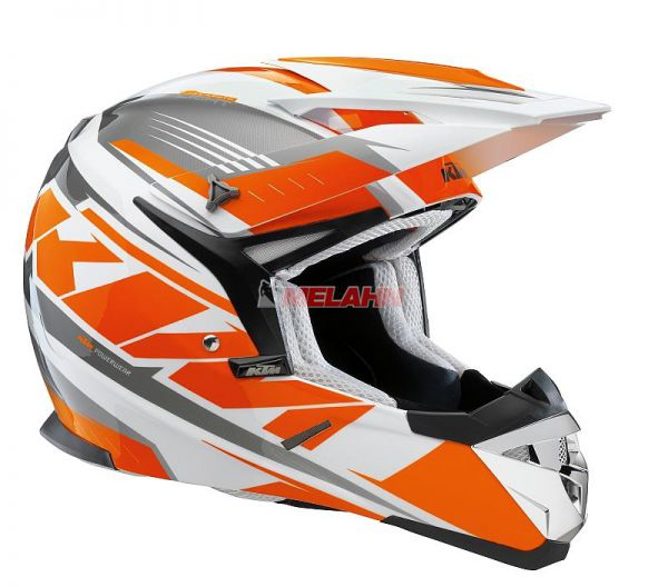 KTM Helm: Comp Light, weiß/orange/grau