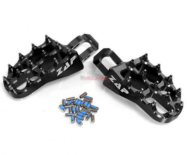 ZAP E-Peg Aluminium-Fußrasten (Paar), CR/CRF 02-, schwarz