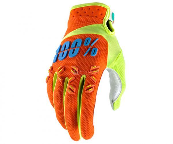 100% Kids Handschuh: Airmatic, orange/blau