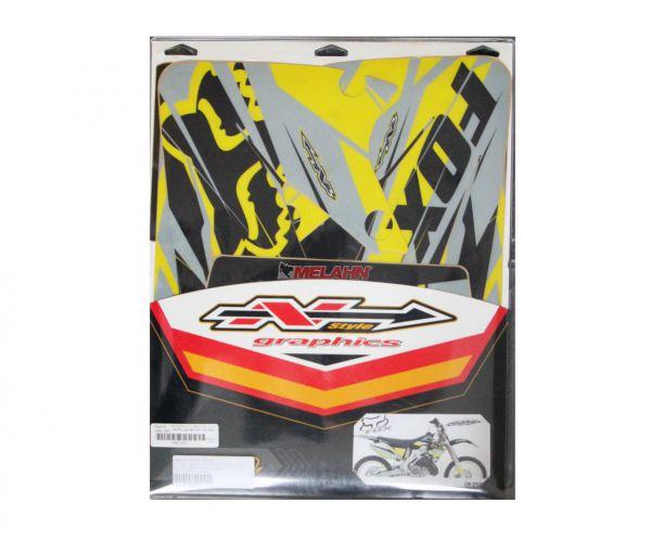 N-STYLE Dekor-Kit FOX, gelb, CR 02-07