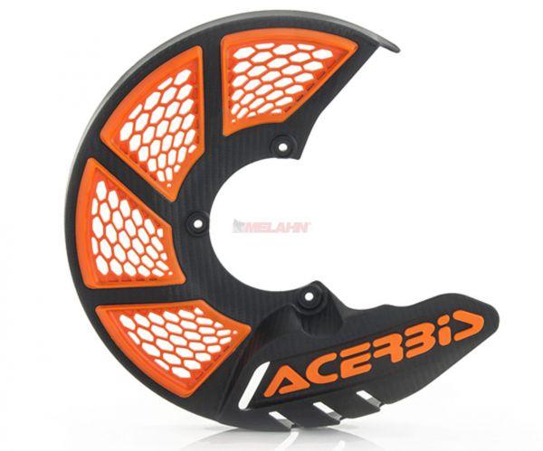 ACERBIS Kunststoff-Bremsscheibenschutz vorne: X-Brake 2.0 KTM/HVA 85/KTM Freeride, schwarz/orange