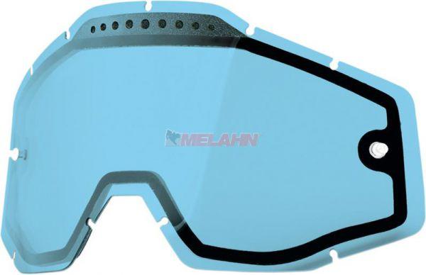 100% Doppelglas, blau