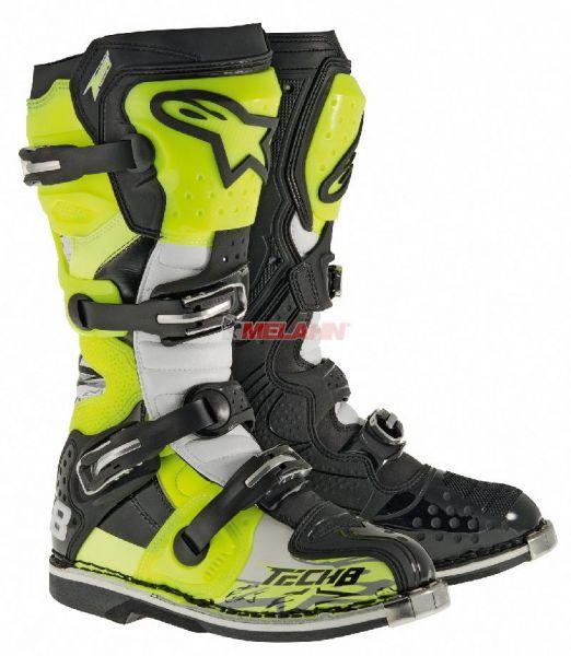 ALPINESTARS Stiefel: Tech 8 RS, schwarz/neon-gelb