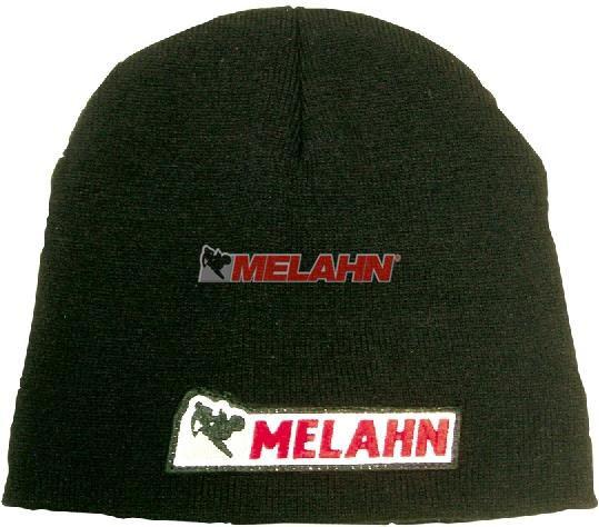 MELAHN Beanie: Logo, schwarz