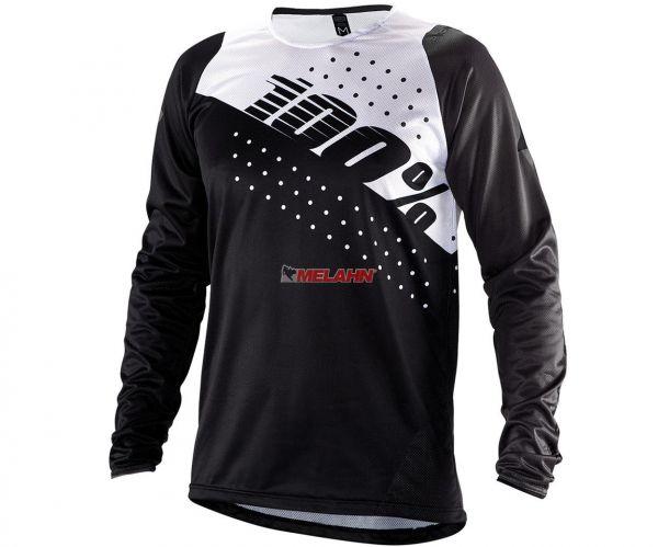 100% MTB-Jersey: R-Core DH, schwarz/weiß