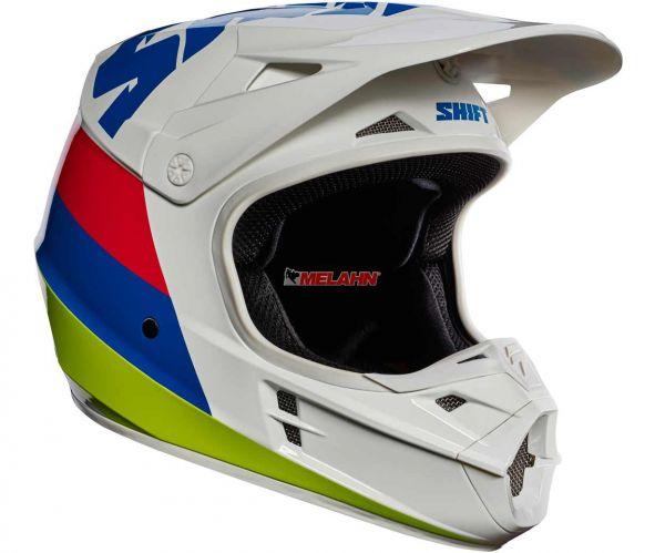 SHIFT Helm: V1 Whit3 Tarmac, weiß