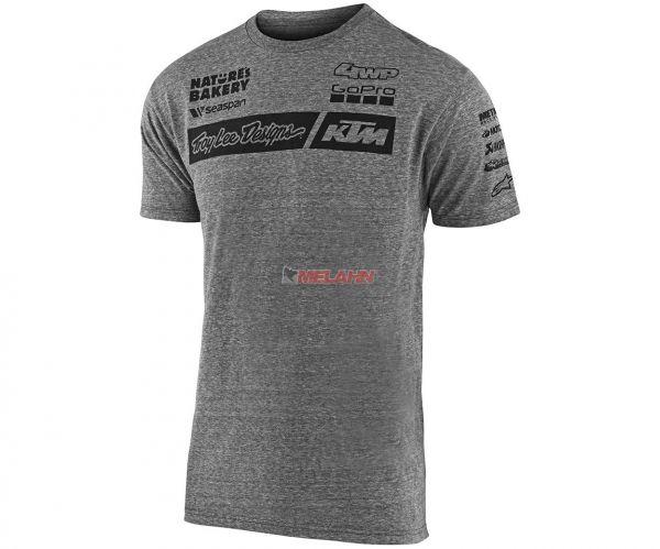 TROY LEE DESIGNS T-Shirt: KTM Team, grau