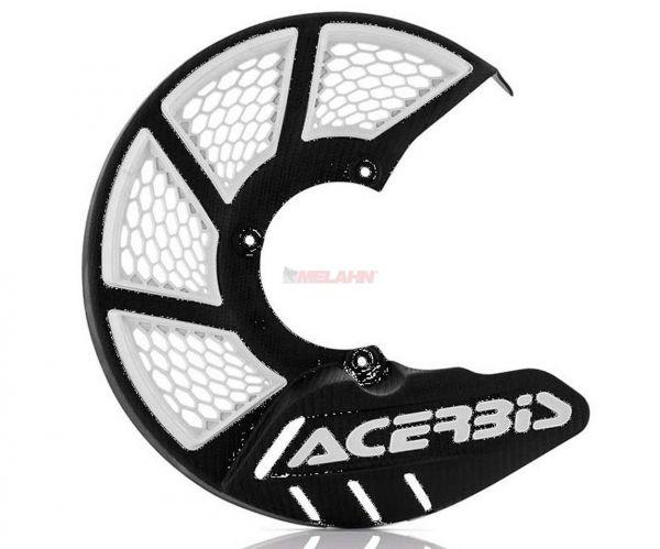 ACERBIS Kunststoff-Bremsscheibenschutz vorne: X-Brake 2.0, schwarz/weiß