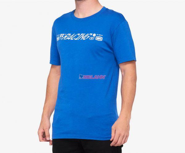 100% T-Shirt: Vuln, blau