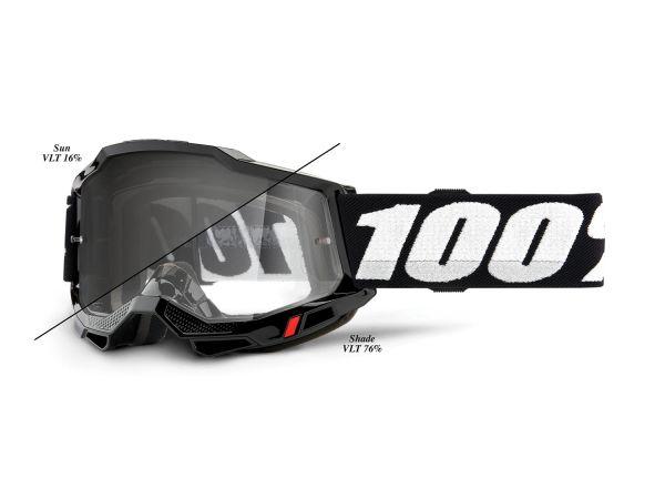 100% Brille: Accuri 2 Woods (selbsttönend), schwarz