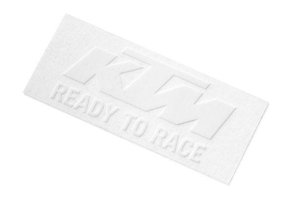 KTM Aufkleber: Logo 8,4x3,4cm, weiß