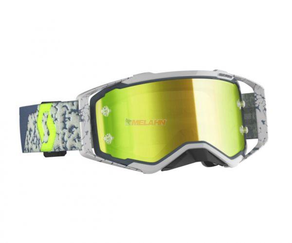 SCOTT Prospect Goggle Motocross MTB MX Enduro Cross Brille grau-neongelb gelb verspiegelt