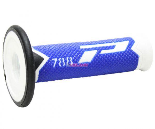 PROGRIP Griff (Paar): 788 Slim, weiß/blau/schwarz